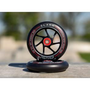 Slamm Astro alloy core stuntstep wielen 110 mm zwart