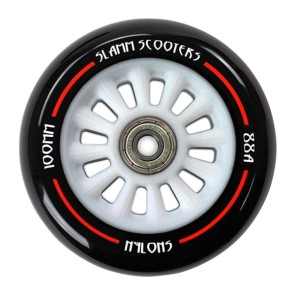 Slamm Nylon core stunt step wheels 100 mm white (p/s)