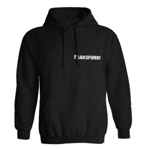 Transform Fast text hoodie black
