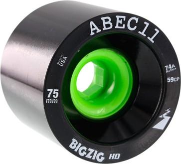 Abec 11 BigZig HD wheels black 75 mm 74a