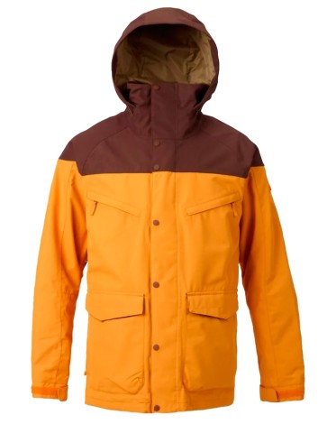 Burton Radial GoreTex snowboard jacket clay - fired brick