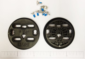 Flow Multi disc plastic with screws for Fuse binding (set)