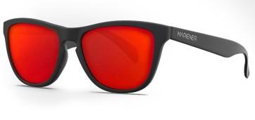 Mariener Melange Matte black flexible sunglasses