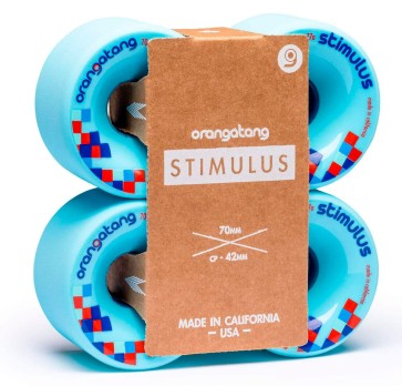 Orangatang Stimulus 70 mm longboard wheels blue