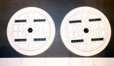 Rome 4 hole binding discs white