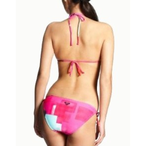 Roxy Color block chacha tie sides bikini