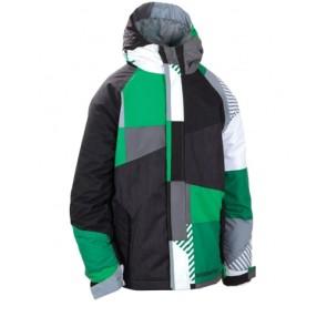 686 Boys Mannual Max jacket green 5K (boys L 12-14 yrs)