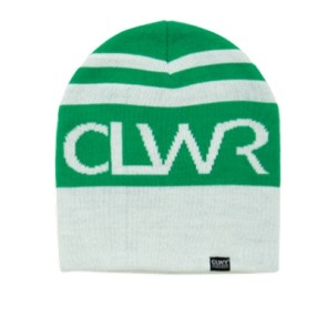 CLWR Striped beanie green white