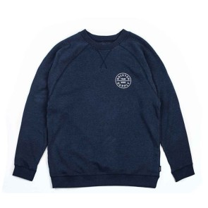 Brixton Oath Crew Fleece washed navy