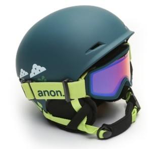 Anon Define snowboardhelm dark green with goggle (52-55 cm)