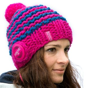 Beatpack Handmade striped beanie AKG pink M
