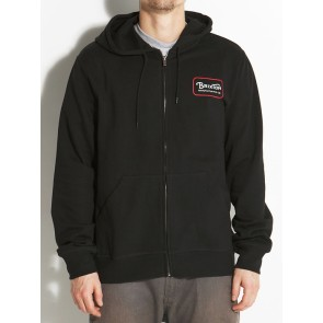 Brixton Grade Zip Hooded Fleece black