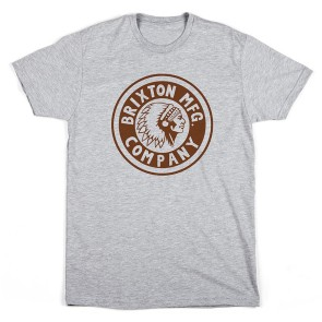 Brixton Rival t-shirt heather grey