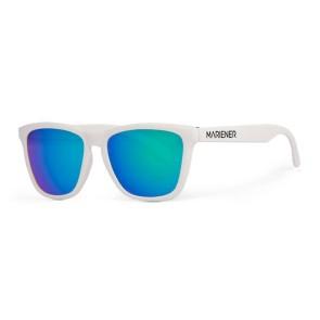 Mariener Melange White flexible frame sunglasses sky