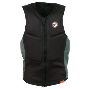 ProLimit Slider vest half padded FZ black-orange-green