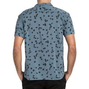 RVCA OD Floral  Kurzarm Shirt blue slate