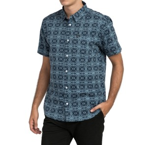 RVCA Vision SS shirt dark denim