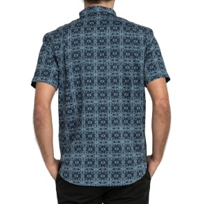 RVCA Vision Kurzarm Shirt dark denim