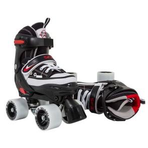 SFR Miami adjustable roller skates black/red