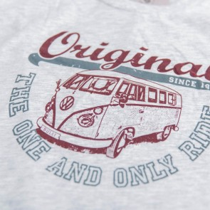 Van One Classic Cars Original Ride VW Bulli T-Shirt hellgrau