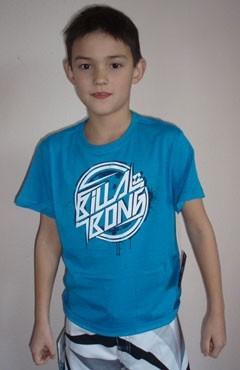 Billabong metal T-shirt acid blue