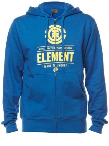 Element Compass zip hoodie vintage blue