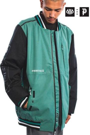 686 Primitive Tech bomber snowboard jacket 20K marine green 2020