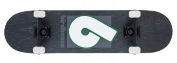 "Birdhouse Stage 3 B logo 8"" skateboard black green"