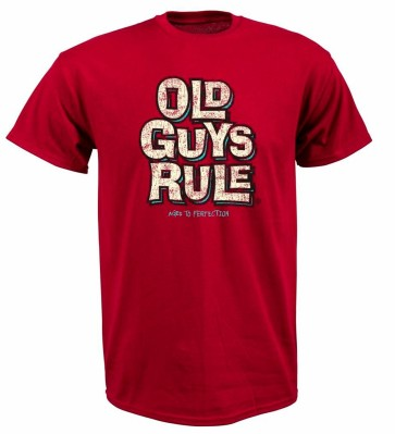 Old Guys Rule Stand by your van T-shirt blue dust