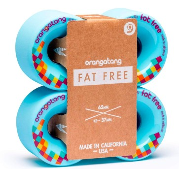 Orangatang Fat Free 65 mm wheels blue 77a