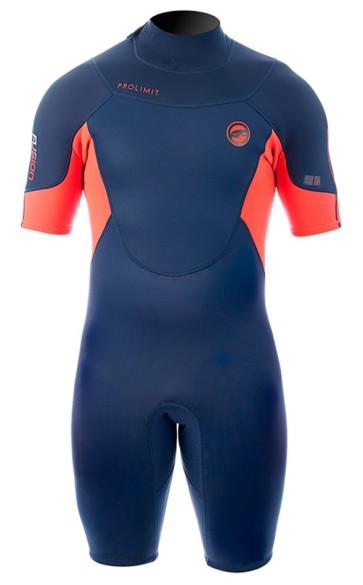 Pro Limit Fusion Shorty 2/2 mm steel blue orange