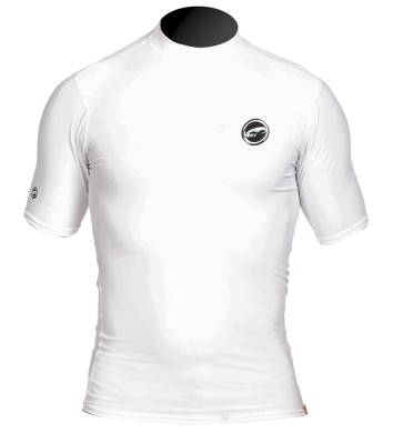 Pro Limit rashguard Logo silk short arm (SA) white