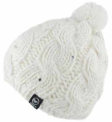 Roxy shooting star beanie bright white
