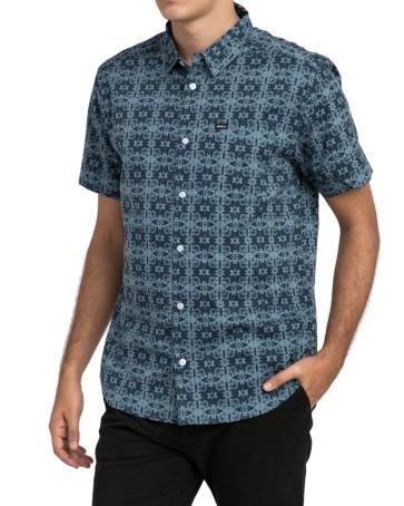 RVCA Vision SS shirt dark denim