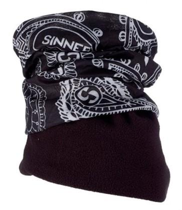 Sinner Black Paisley fleece bandana