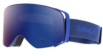 Sinner Olympia goggle matt dark blue - blue mirror lens (Cat 3)