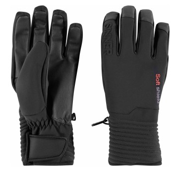 Sinner Ski mont softshield glove black 5K
