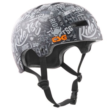 TSG Evolution skate helmet stickerbomb