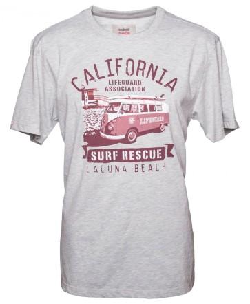 Van One Classic Cars Laguna Beach VW Bulli T-Shirt light grey