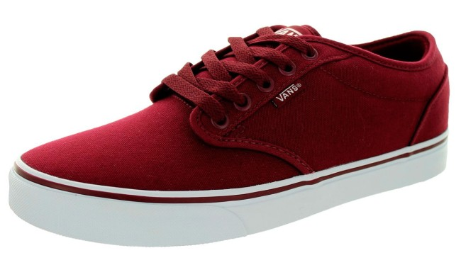 89dab11e07 Vans Atwood Canvas shoes red white Zoom · Vans ...
