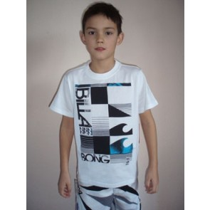 Billabong Half cut SS boys t-shirt white