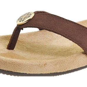 Roxy Vamonos female suede slippers brown