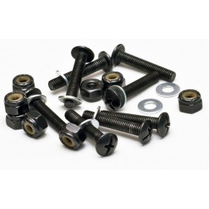 """Mindless Drop thru mounting bolts 1"""" with washers black"""