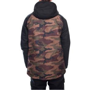 686 Geo insulated snowboard jacket dark camo 10K
