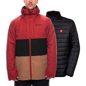 686 Smarty Form 3-in-1 snowboard jacket rusty red 20K