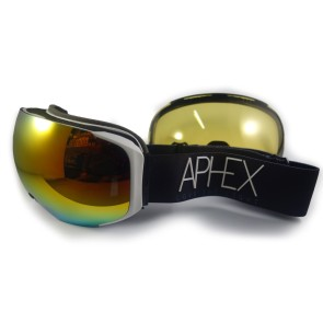 Aphex Kepler magnetic goggle white with revo red lens + bonus lens