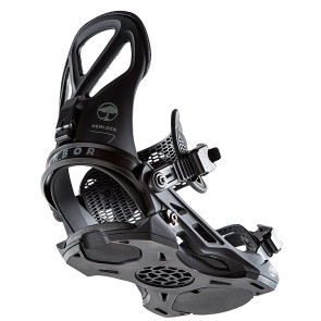 Arbor Hemlock snowboard bindings 2020 black