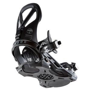 Arbor Hemlock snowboard bindings 2021 black