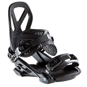 Arbor Hemlock snowboard bindings black