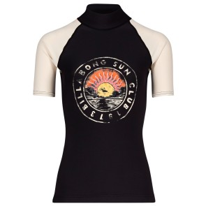 Billabong Logo SS ladies rashguard rising sun